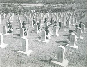 국군묘지 헌화